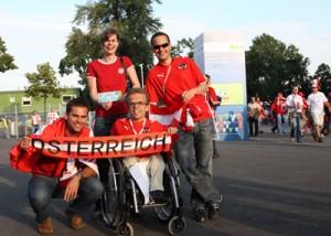 Fans freuen sich auf das Spiel Österreich - Polen