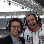 Audio2-Kommentatoren Johannes Karner und Sebastian Kaufmann