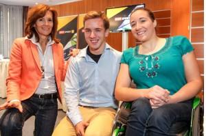 Bild zeigt Gabriela Jahn; Andreas Onea; Claudia Lösch im Studio