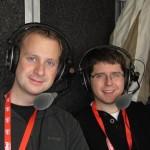 Johannes Karner und Philipp Stögner mit Headsets in Kitzbühel