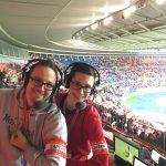 Audio2-Kommentatoren bei Österreich - Wales