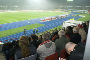 Blick ins Stadion