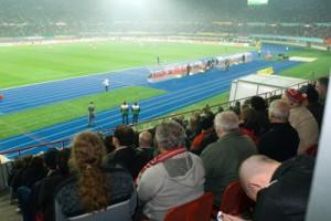 stadion von oben (tribüne)